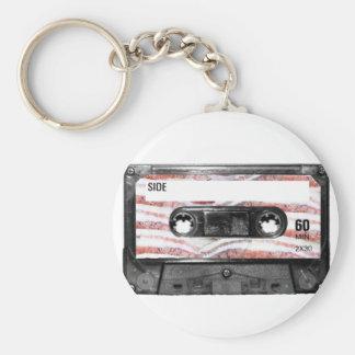 Bacon Label Cassette Key Chains