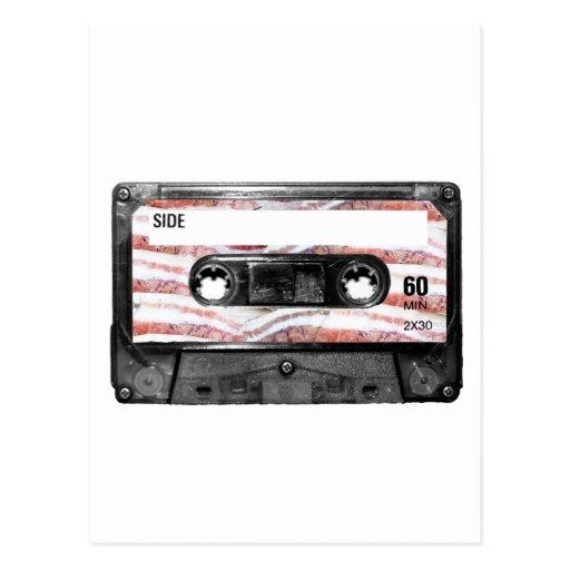 Bacon Label Cassette Post Card