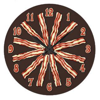 Bacon Large Clock