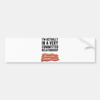 Bacon Love - A Serious Relationship Bumper Sticker