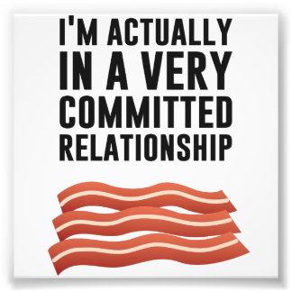 Bacon Love - A Serious Relationship Photograph