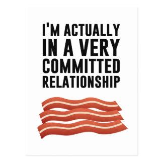Bacon Love - A Serious Relationship Postcard