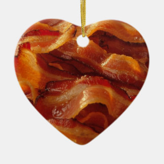 Bacon Love Ceramic Heart Decoration