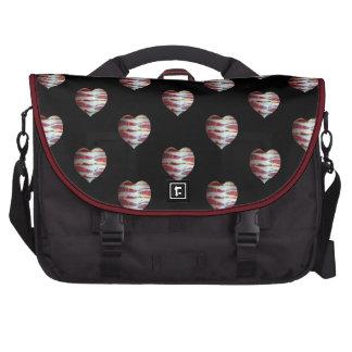 Bacon Love Heart Pattern Commuter Bag
