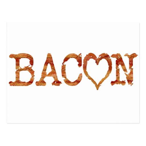 Bacon LOVE Post Card