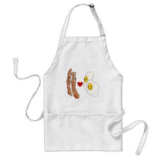 Bacon Loves Eggs Funny Bacon Design Apron