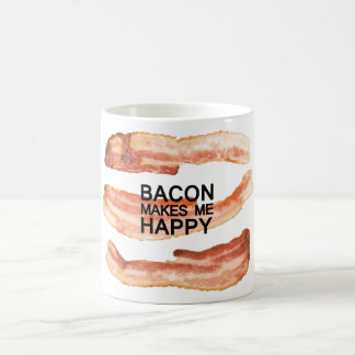 Bacon Makes Me Happy Coffee by Mini Brothers Coffee Mug