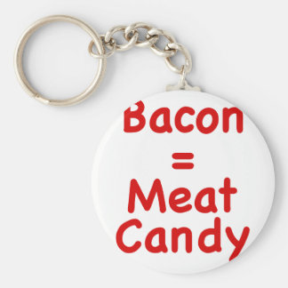 Bacon Meat Candy Keychains