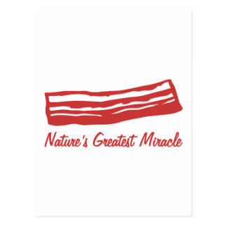 bacon nature's greatest miracle postcard