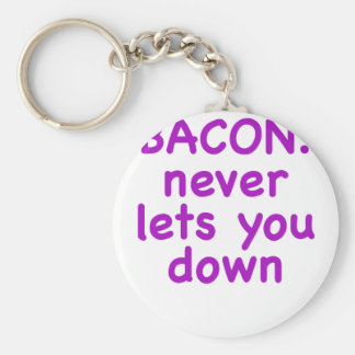 Bacon Never Lets You Down Keychains