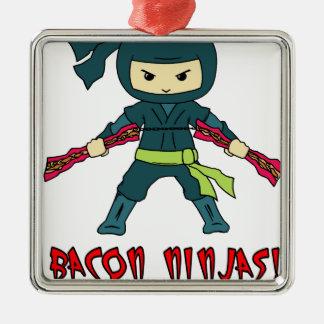 Bacon Ninja Metal Ornament