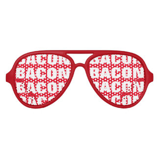 Bacon obsession party shades Funny red sunglasses