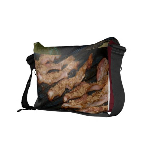 Bacon on the go. courier bag
