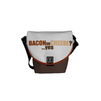 Bacon or Cheese Courier Bags