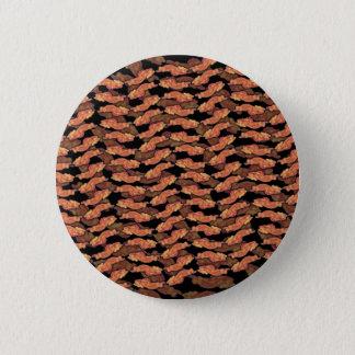 Bacon Pattern 6 Cm Round Badge