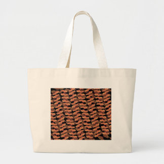 Bacon Pattern Large Tote Bag