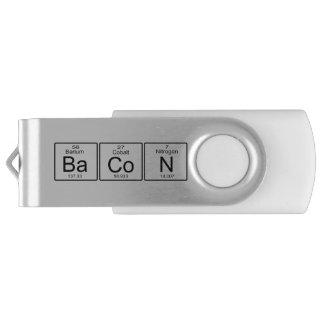 Bacon Periodic Table Geek Humor Swivel USB 2.0 Flash Drive