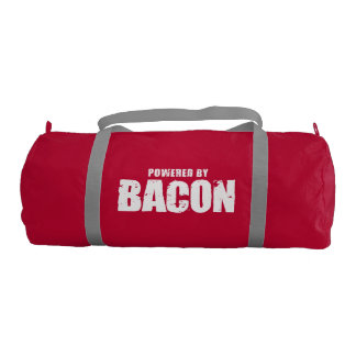 Bacon - Powered By Bacon Gym Duffel Bag