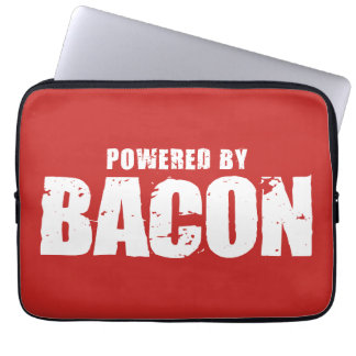 Bacon - Powered By Bacon Laptop Computer Sleeve