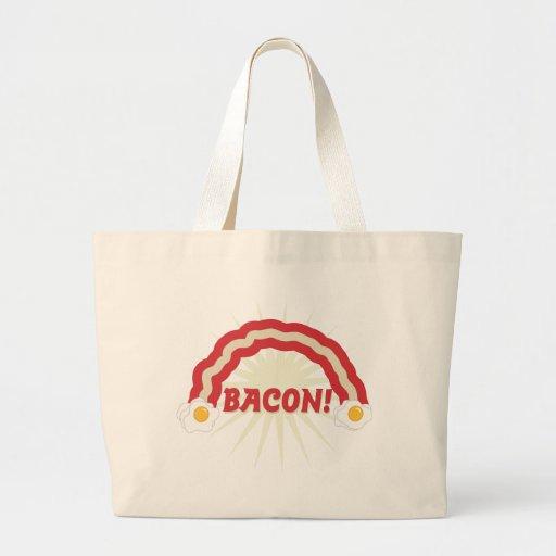 Bacon rainbow tote bag
