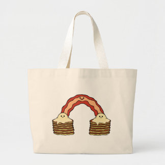 Bacon Rainbow Large Tote Bag