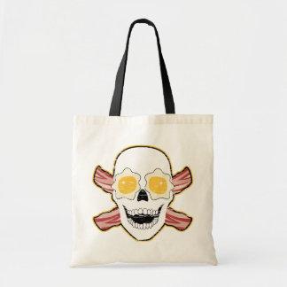 Bacon Skull Budget Tote Bag