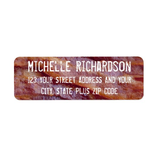 Bacon Strips Return Address Label