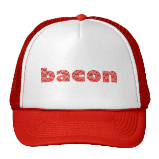 Bacon Text Mesh Hat