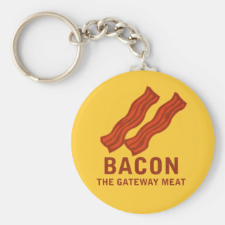 Bacon, The Gateway Meat Basic Round Button Key Ring