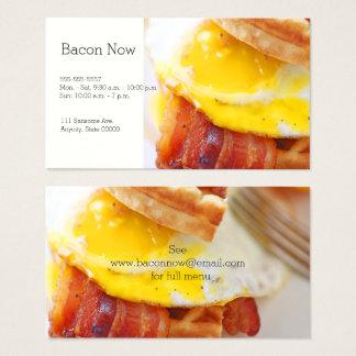 bacon waffle sandwich business card