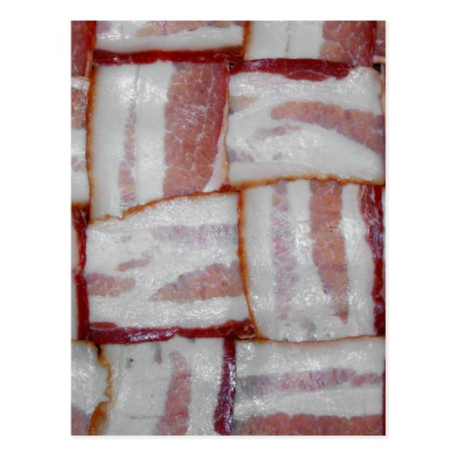 Bacon Weave Post Card
