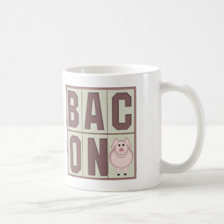 Bacon with Cute Pig Mugs Cups