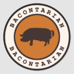 Bacontarian Round Stickers