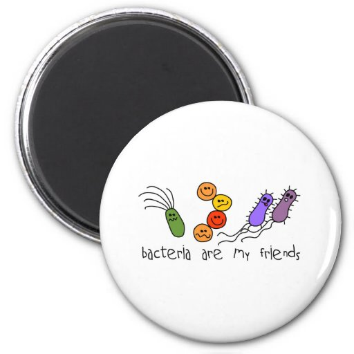 Bacteria are my friends refrigerator magnet