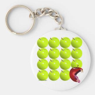 Bad Apple Basic Round Button Key Ring