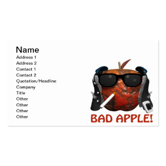 Bad Apple Pack Of Standard Business Cards