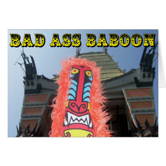 BAD ASS BABOON CARD