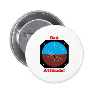 Bad Attitude 6 Cm Round Badge