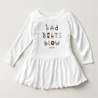 Bad Bolts Blow - Toddler Ruffle Dress