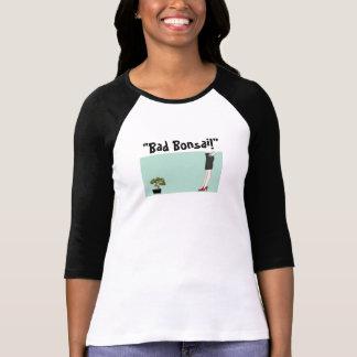 Bad Bonsai Ladies 3/4 Sleeve Raglan (Fitted) T-Shirt