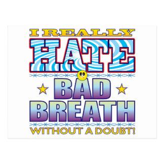 Bad Breath Hate Face Postcard