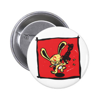 BAD BUNNY 6 CM ROUND BADGE