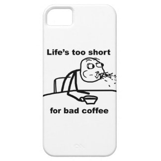 Bad Coffee Barely There iPhone 5 Case
