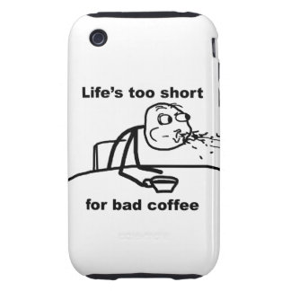 Bad Coffee Tough iPhone 3 Case