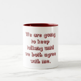 Bad Communication Two-Tone Mug