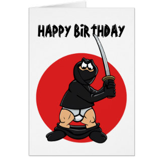 Bad Day Ninja Birthday card