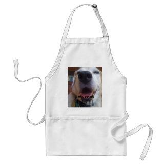 Bad Dog Carl--Let's cook baby!!!! Standard Apron