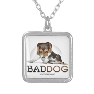 Bad Dog, Funny Dog Necklace Pendant with Chain