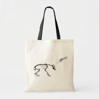 Bad Dog X-Ray Skeleton in Black & White Canvas Bag