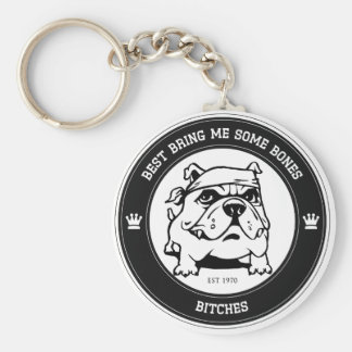Bad Dogs Collection  - Item 1 Basic Round Button Key Ring